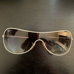 Authentic Ray-Ban sporty white frame sunglasses